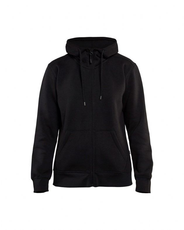 Blaklader 3395 Ladies Hoodie With Full Zipper (Black)